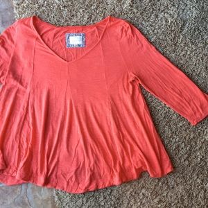 Peach 3/4 sleeve shirt